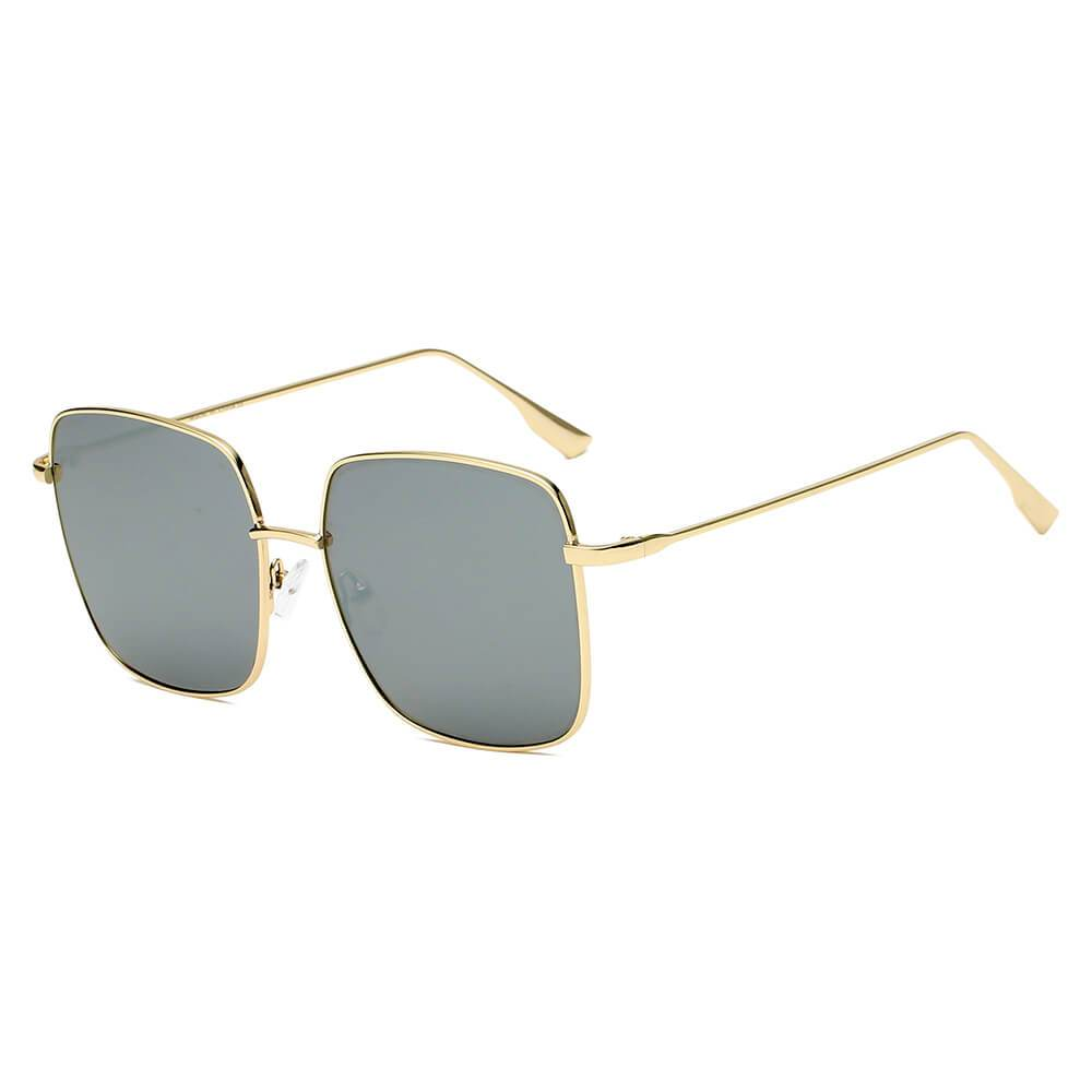 Metal Flat Lens Square Sunglasses 100% UV 7 color choices