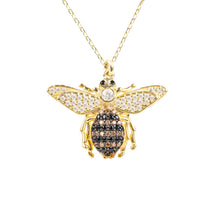 New Honey Bee 22ct Gold Pendant Necklace - Junkdrawercoolfinds.com