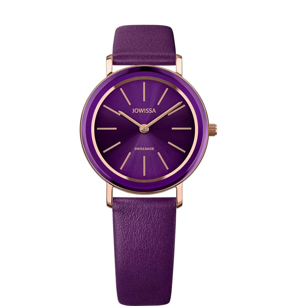 New Jowissa Alto Swiss Ladies Watch Purple Leather, Rose/Purple - Junkdrawercoolfinds.com