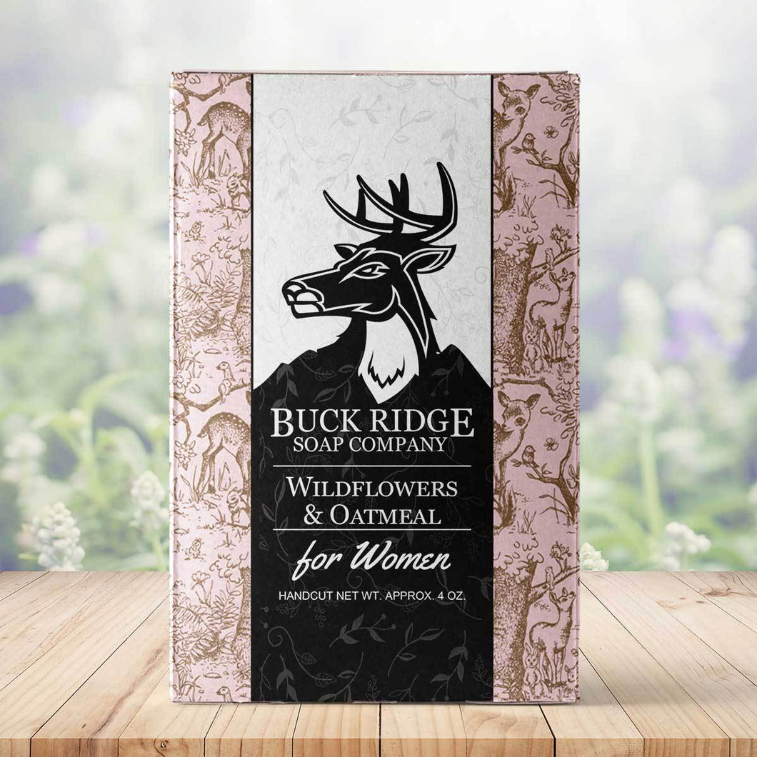 Women's Buck Ridge Wildflowers & Oatmeal Handmade Soap - Junkdrawercoolfinds.com