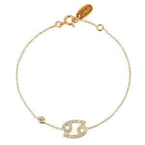 New CANCER Zodiac Bracelet Choice of 22ct Gold, Rhodium or 22ct Rose Gold - Junkdrawercoolfinds.com