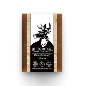 Buck Ridge Old (Sandal) Wood Men's Handmade Soap - Junkdrawercoolfinds.com