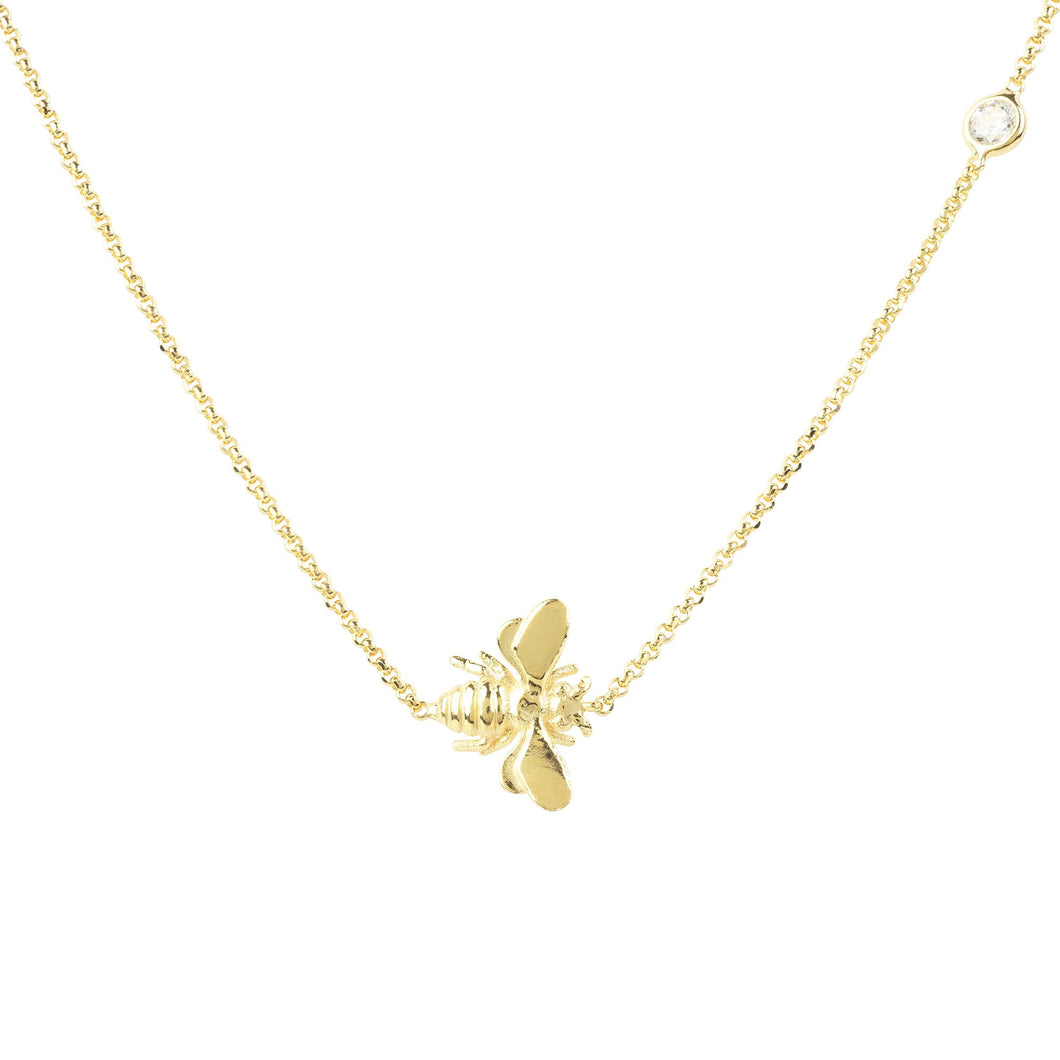 New Queen Bee Necklace 22ct Gold