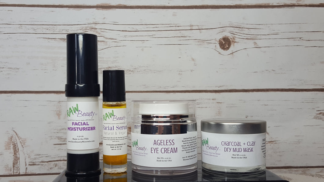 Raw Beauty Minerals, Ageless Skincare Collection, Contains 4 Products