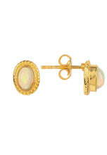 22ct Gold & Opal Gemstone Stud Earring  October Birthstone