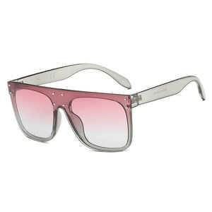 Flat Top Oversize Mirrored Square 100% UV Sunglasses 4 colors - Junkdrawercoolfinds.com