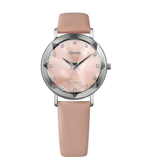 New Jowissa Facet Swiss Ladies Watch Rose Mother of Pearl - Junkdrawercoolfinds.com