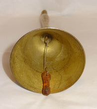 "Vintage All Brass SCHOOL BELL, 7 3/4"" Tall - Junkdrawercoolfinds.com"