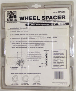 Gorilla Automotive Products, WHEEL SPACER, 4 LUG VEHICLES, Part # SP601C, NIP - Junkdrawercoolfinds.com