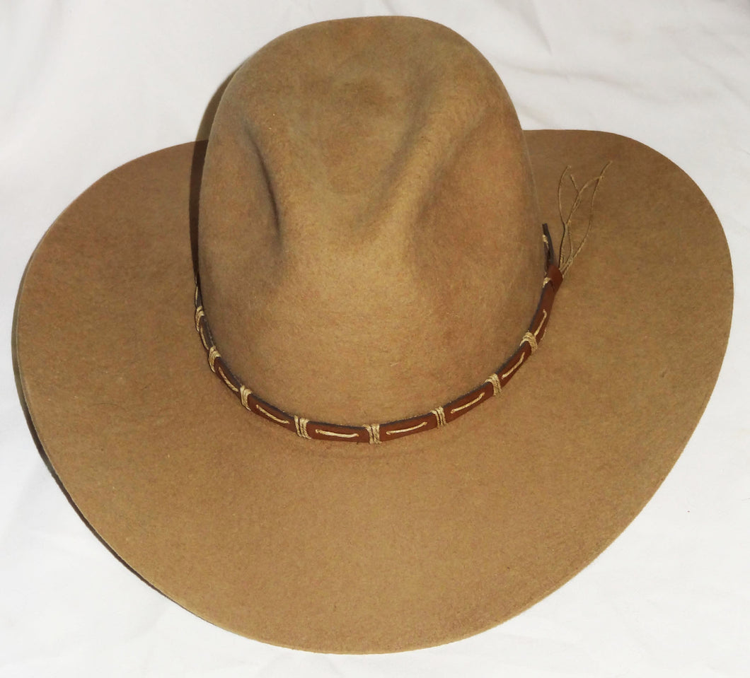 Men's New Cowboy Hat by Rodeo King, Tan, Size 7, 3X Wool Blend - Junkdrawercoolfinds.com