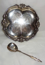 Vintage EMPRESS INTERNATIONAL DEEPSILVER, Party set - dish and serving spoon - Junkdrawercoolfinds.com