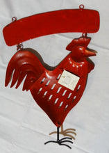 "Vintage Metal Red Rooster Welcome Door Hanger, Regal Art & Gift, Henna Collection, 17"" - Junkdrawercoolfinds.com"