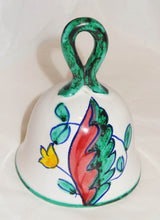 Vintage Hand Painted Ceramic Pottery Bell, SIGNED- I A ITALY - Junkdrawercoolfinds.com