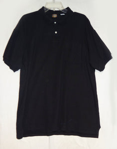 Creekwood Knit Shirt, Collar, 2 Buttons & Pocket, Black, Size 2X - Junkdrawercoolfinds.com
