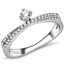 Women's Promise Ring Stainless Steel & AAA Grade Clear CZ Sz 5-9 - Junkdrawercoolfinds.com