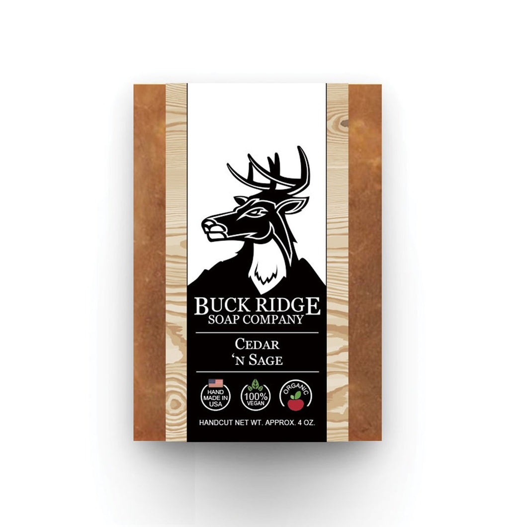 Buck Ridge Cedar 'n Sage Men's Handmade Soap - Junkdrawercoolfinds.com