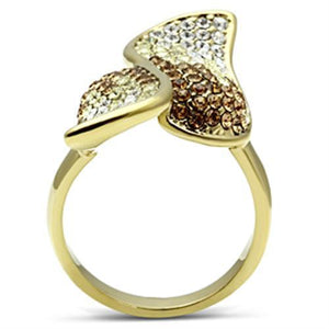 Women's IP Gold On Brass Fashion Ring W/ Top Grade Crystals SZ 5-10 - Junkdrawercoolfinds.com