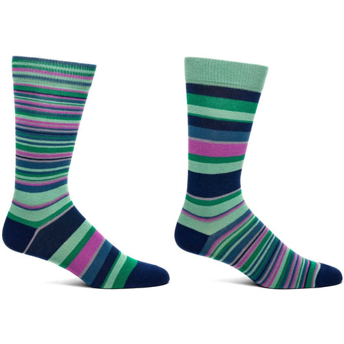 Unisex Striped Socks, Choice of navy or black color scheme