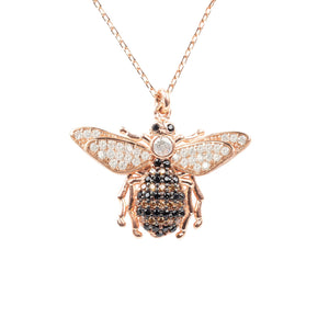 New Honey Bee 22ct Rose Gold Pendant Necklace - Junkdrawercoolfinds.com