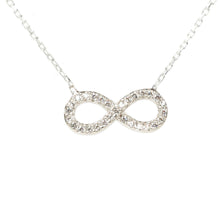 New Eternity Necklace Choice of 22ct Gold, Rhodium or 22ct Rose Gold - Junkdrawercoolfinds.com