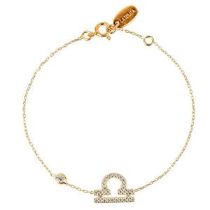 New Zodiac Bracelet, LIBRA,Choose 22ct Gold, Rhodium or 22ct Rose Gold - Junkdrawercoolfinds.com