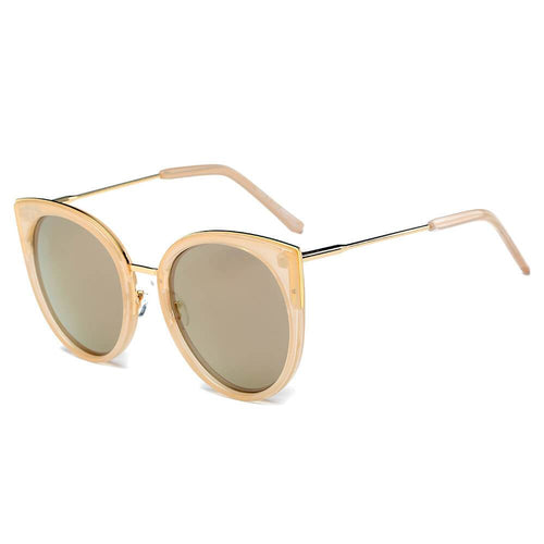 Women's Mirrored Lens Cat Eye Sunglasses 100% UV 5 color choices - Junkdrawercoolfinds.com