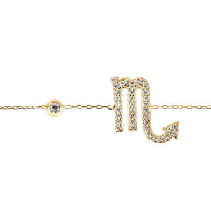 New Scorpio Zodiac Bracelet in 22ct Gold, Rhodium or 22ct Rose Gold - Junkdrawercoolfinds.com