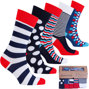Socks n Socks Funky High Class Mix 5 Sock Set FREE SHIP - Junkdrawercoolfinds.com