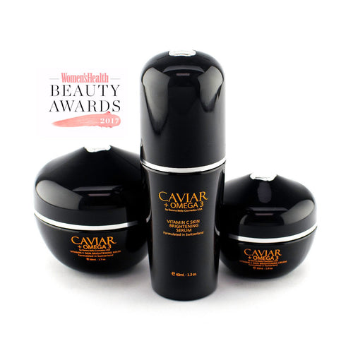 Caviar + Omega 3, Vitamin C Skin Brightening Set, FREE SHIP - Junkdrawercoolfinds.com