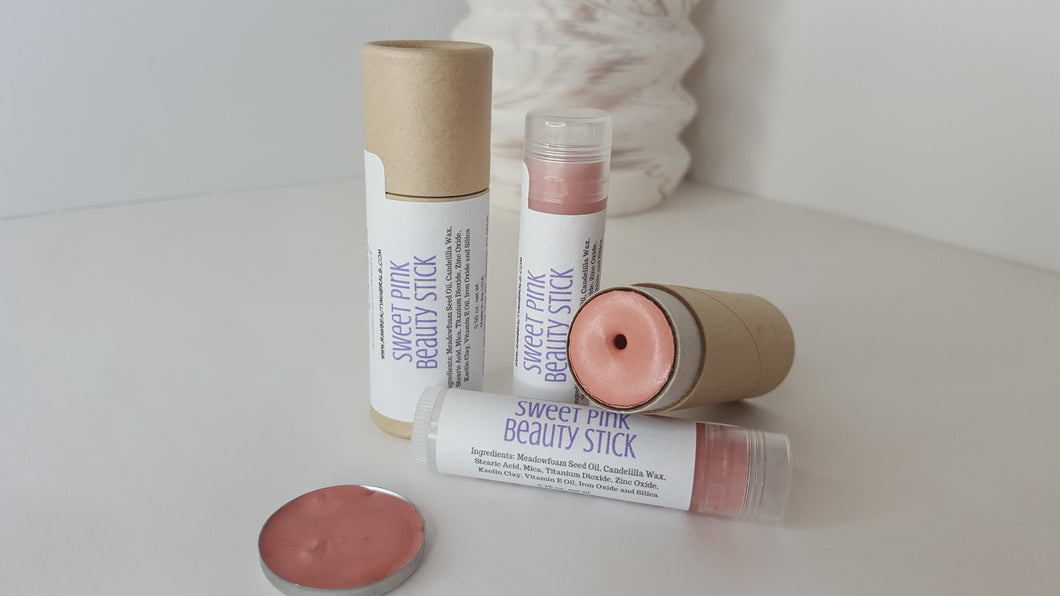 Raw Beauty Minerals Sweet Pink Lip & Cheek Stain | Cream Blush 2 size options