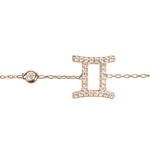 New Gemini Zodiac Bracelet Choice of 22ct gold, Rhodium or 22ct rose gold - Junkdrawercoolfinds.com
