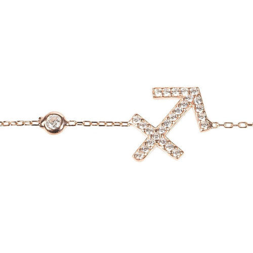 New Sagittarius Zodiac Bracelet Choice of 22ct gold, rhodium or 22ct rose gold - Junkdrawercoolfinds.com