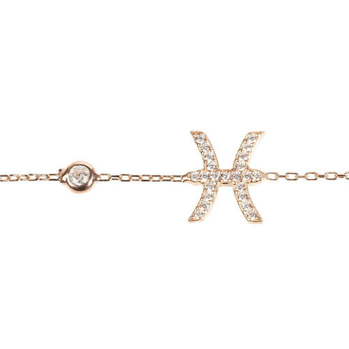 New PISCES Zodiac Bracelet in 22ct gold, rhodium or 22ct rose gold - Junkdrawercoolfinds.com
