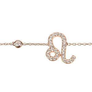 New LEO Zodiac Bracelet Choice of 22ct Gold, Rhodium or 22ct Rose Gold - Junkdrawercoolfinds.com