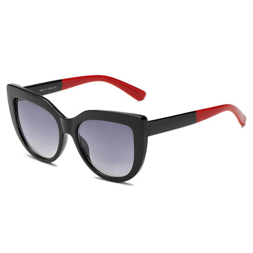 Women's Round Cat Eye Oversized 100% UV Sunglasses 4 colors - Junkdrawercoolfinds.com
