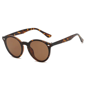 Unisex Fashion Retro Round Horn Rimmed Sunglasses, 4 color choices