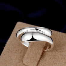Teardrop Ring Adjustable in White Gold Plated - Junkdrawercoolfinds.com