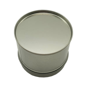 250ml silver welded seam tin with solid slip lid 250g bottom of tin