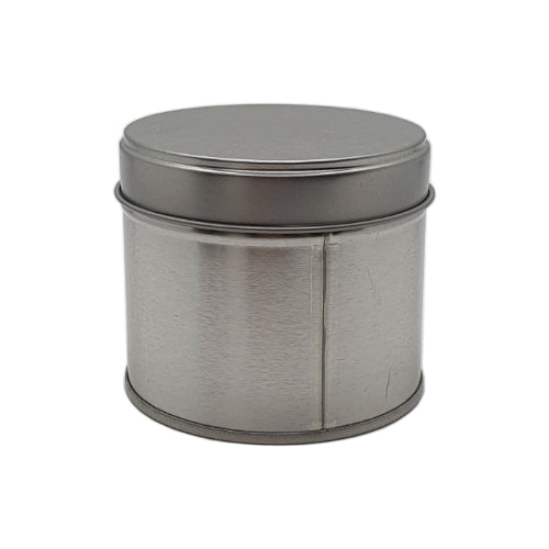 250ml silver welded seam tin with solid slip lid 250g