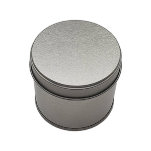 250ml silver welded seam tin with solid slip lid 250g top