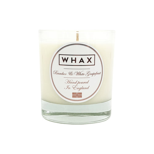 amber and cognac luxury scented candle