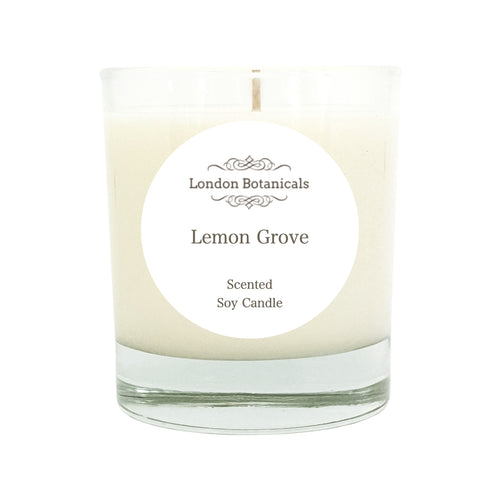 Lemon Grove 185g Scented natural 100% soy Candle