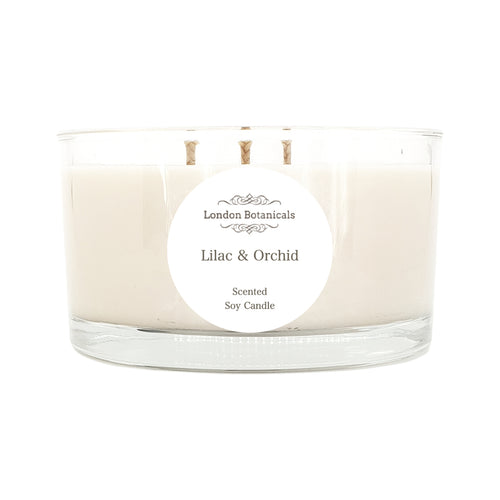 Lilac & Orchid 400g Highly Scented 100% soy candle