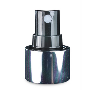 24mm 410 silver/black Screw Atomiser Spray Clear Cap