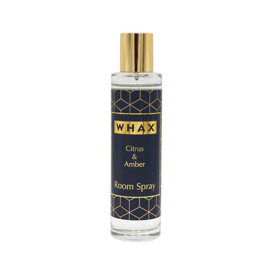 Citrus & amber room spray | citrus and amber room mist | whax.co.uk | made in England | Herefordshire | gift for her | gift for him