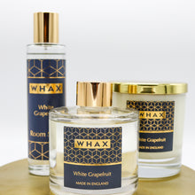 Load image into Gallery viewer, white grapefruit fragrance diffuser, candle and room spray | white grapefruit set | whax.co.uk