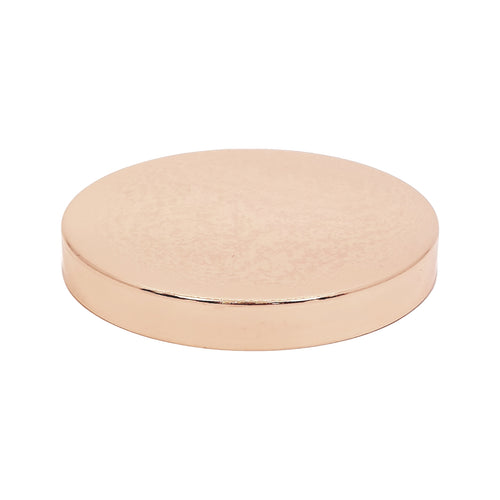 27cl Rose Gold Metal Candle Lid