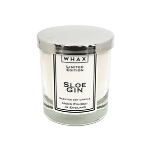 sloe gin scented soy candle