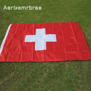 Schweizer Fahne Flagge 100% Polyester Switzerland 3x5 ft