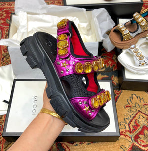 GUCCI CRYSTALS SANDALS - vlixcogoods